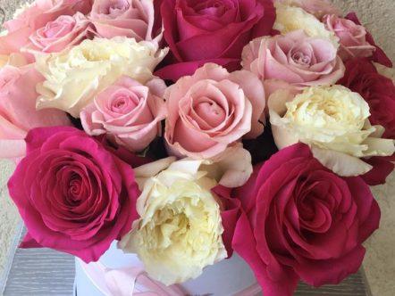 Aranjament trandafiri in cutie 6
